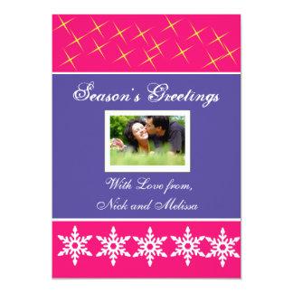 Weihnachtsfeiertags-Gruß-Foto-Karte 12,7 X 17,8 Cm Einladungskarte