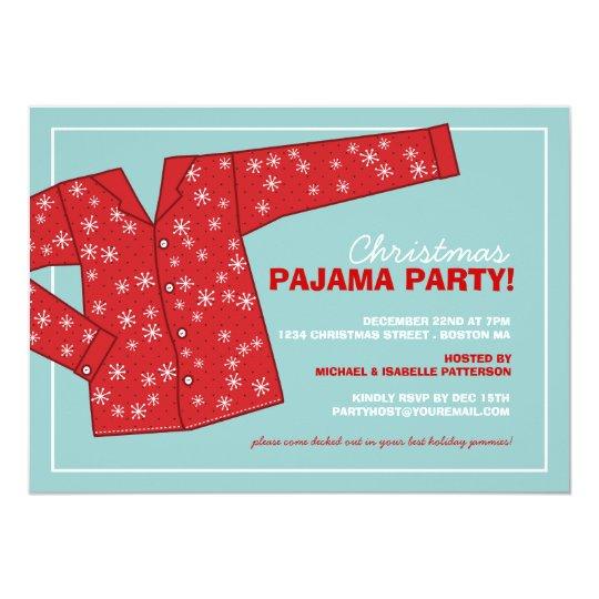 weihnachtsfeiertags pyjama party einladung. Black Bedroom Furniture Sets. Home Design Ideas