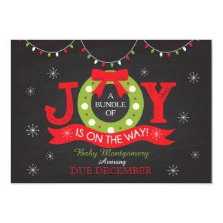 Weihnachtsfeiertags-Schwangerschafts-Mitteilung 12,7 X 17,8 Cm Einladungskarte