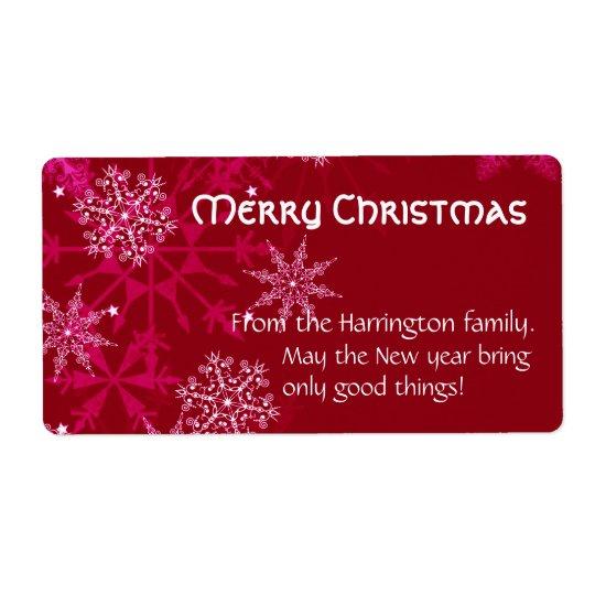 Weihnachtsfeiertags-Wein-Aufkleber-Rot und Weiß