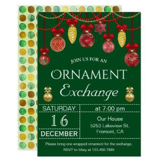 Weihnachtsflitter-Verzierungs-Austausch-Party Karte