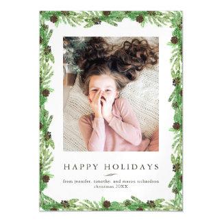 WeihnachtsFoto der Feiertags-Kiefern-| Magnetische Karte
