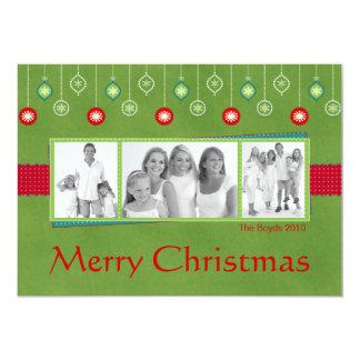 WeihnachtsFoto-Karte mit Verzierungen 12,7 X 17,8 Cm Einladungskarte