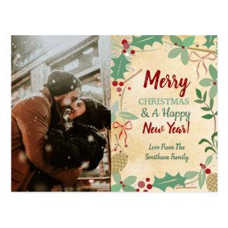 WeihnachtsFoto-Karten-Postkarten-festliche Wünsche Postkarte