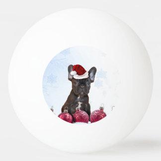 Weihnachtsfranzosen Bulloog Tischtennis Ball