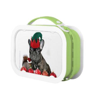 Weihnachtsfranzösische Bulldogge Brotdose