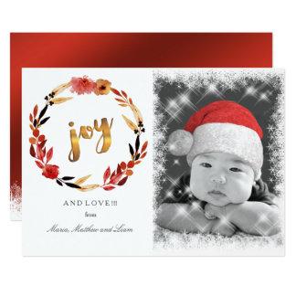 Weihnachtsfreude-Aquarell-Kranz ID292 12,7 X 17,8 Cm Einladungskarte