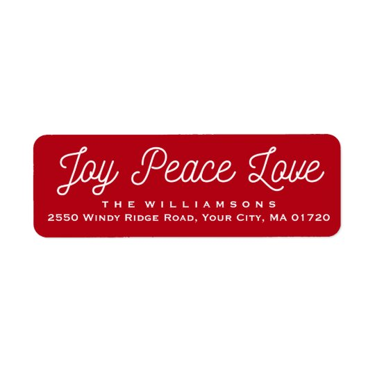 Weihnachtsfreude-FriedensLiebe-kundenspezifisches Rücksendeetikett