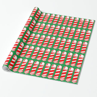 Weihnachtsfriseur Polen Geschenkpapier