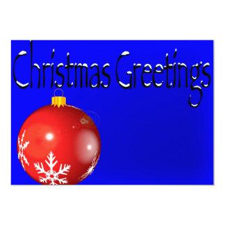 Weihnachtsgruß-Einladungen 12,7 X 17,8 Cm Einladungskarte