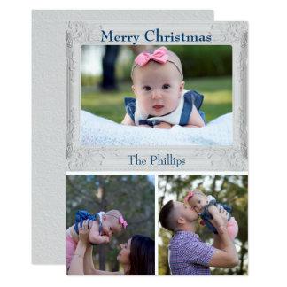 Weihnachtsgruß-Familien-Foto Karte