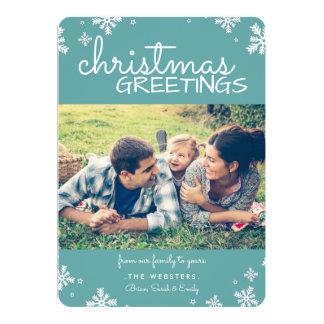 Weihnachtsgruß-Foto-Karte | aquamarin 12,7 X 17,8 Cm Einladungskarte