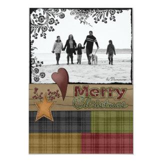 Weihnachtsgruß-Foto-Karten (Land-Art) 12,7 X 17,8 Cm Einladungskarte