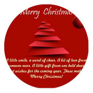 Weihnachtsgruß-Karte Quadratische 13,3 Cm Einladungskarte
