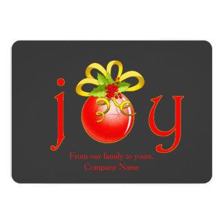 Weihnachtsgruß-Karte Joy Company 12,7 X 17,8 Cm Einladungskarte