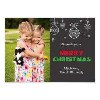 Weihnachtsgruß-Karten-Familien-Foto-Tafel 12,7 X 17,8 Cm Einladungskarte