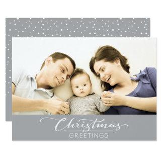 Weihnachtsgruß-kundengerechte Foto-Karte - Grau Karte