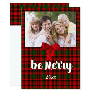 Weihnachtsgruß, Land-rotes kariertes, Gewohnheit Karte