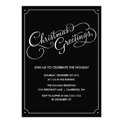 Weihnachtsgruß-Skript-Feiertags-Party laden ein Individuelle Ankündigungen