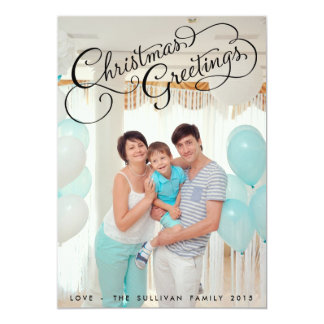 Weihnachtsgruß-Typografie-Feiertags-Foto-Karte 12,7 X 17,8 Cm Einladungskarte