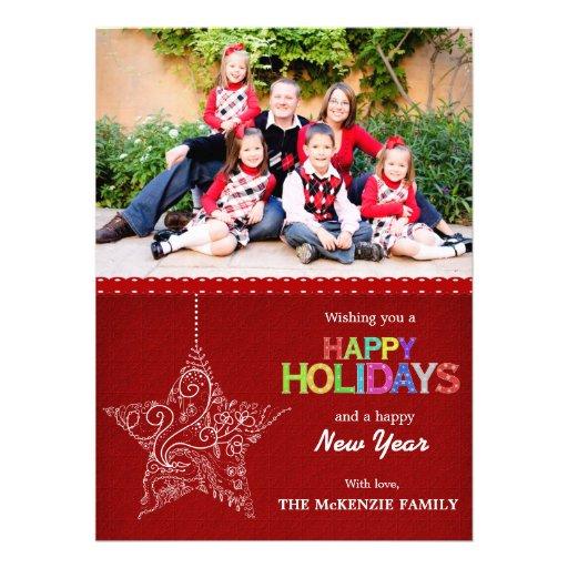 Weihnachtsgrüße Personalisierte Einladungskarten