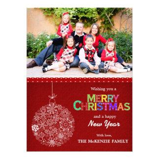Weihnachtsgrüße Individuelle Ankündigskarten