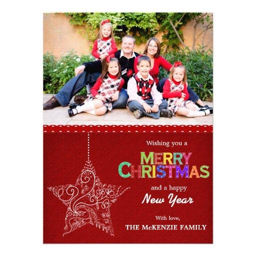 Weihnachtsgrüße Ankündigungskarte