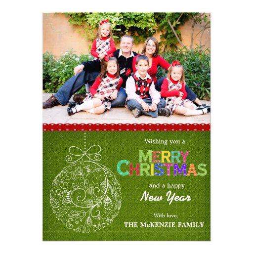 Weihnachtsgrüße Ankündigungskarten