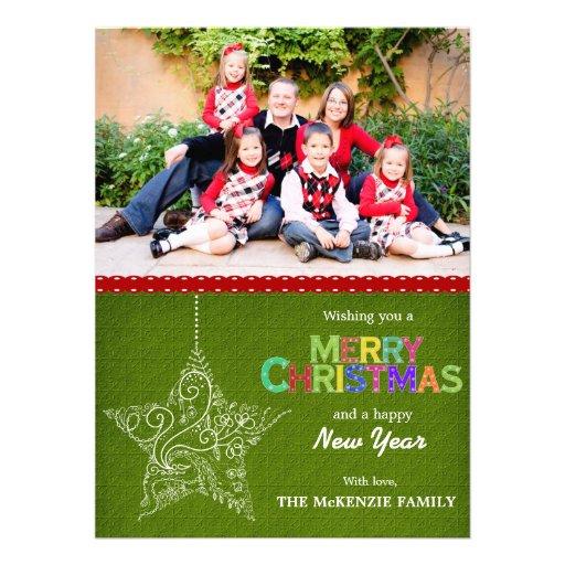 Weihnachtsgrüße Individuelle Ankündigungskarte