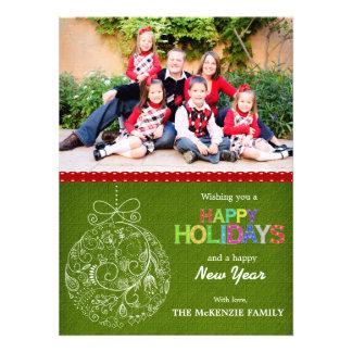 Weihnachtsgrüße Personalisierte Ankündigungskarten