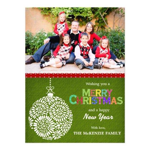 Weihnachtsgrüße Individuelle Einladungskarte
