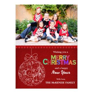 Weihnachtsgrüße Personalisierte Ankündigungskarte
