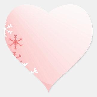 Weihnachtshintergrund mit Kopien-Raum für Grüße Herz-Aufkleber