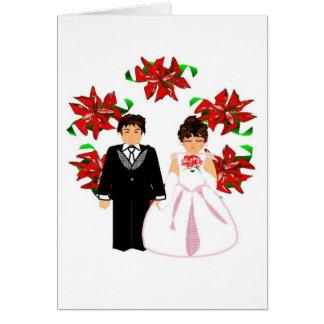 Weihnachtshochzeits-Paare I mit Kranz