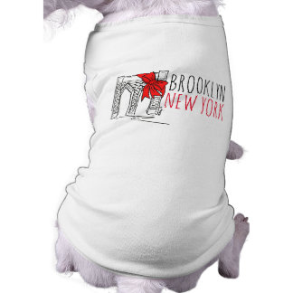 Weihnachtshund T Brooklyn-Brücken-New York City Shirt