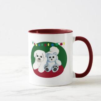 Weihnachtshunde-und Teddy-Bärn-Tasse Tasse