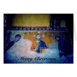 Weihnachtsjesus-Wandgemälde Karte