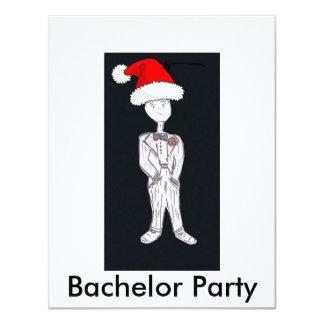 Weihnachtsjunggeselle-Party 10,8 X 14 Cm Einladungskarte