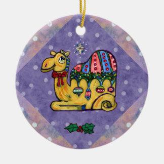 Weihnachtskamel-wunderliche Baum-Verzierung Keramik Ornament