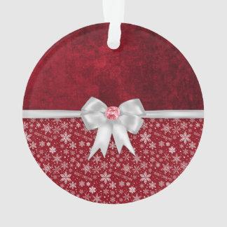 Weihnachtskarminrote rote Schmutz-Verzierung Ornament