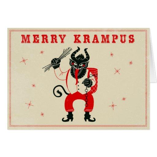 Weihnachtskarte - Krampus Grußkarten