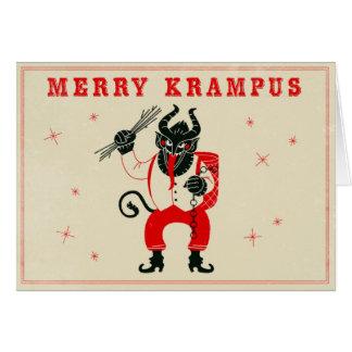Weihnachtskarte - Krampus Grußkarte