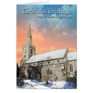 Weihnachtskarte Prinz-Risborough Karte