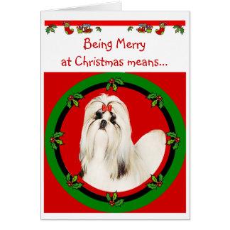 Weihnachtskarte Shih Tzu Karte