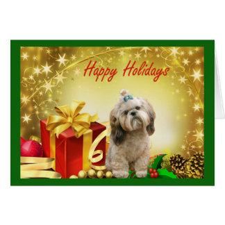 Weihnachtskarten-Geschenke Shih Tzu Karte