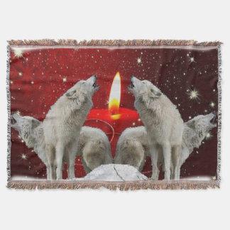 Weihnachtskerzenlicht-Sänger-Wurfs-Decke Decke