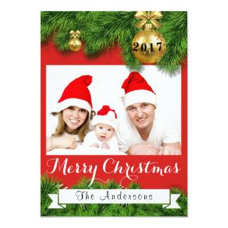Weihnachtskiefern-Verzierungs-kundenspezifische Karte