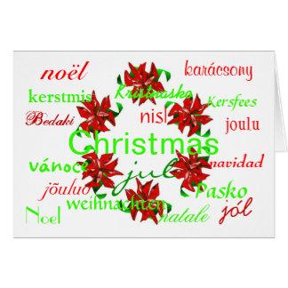 WeihnachtsKranz auf der ganzen Welt das ich