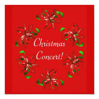 WeihnachtsKranz Quadratische 13,3 Cm Einladungskarte
