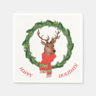 WeihnachtsKranz-Ren Serviette
